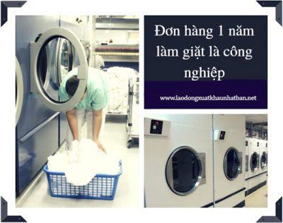xkld Nhat Ban – đơn hàng thời vụ 1 năm giặt là làm việc tại Nhật tuyển 9 nam nữ
