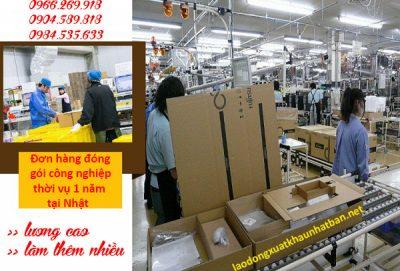 Đơn hàng đóng gói công nghiệp thời vụ 1 năm làm việc tại Nhật Bản